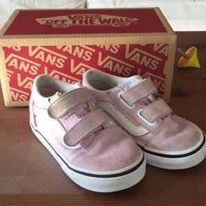 Toddler Vans pink Velcro